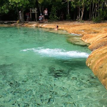 hotspring waterfall krabi
